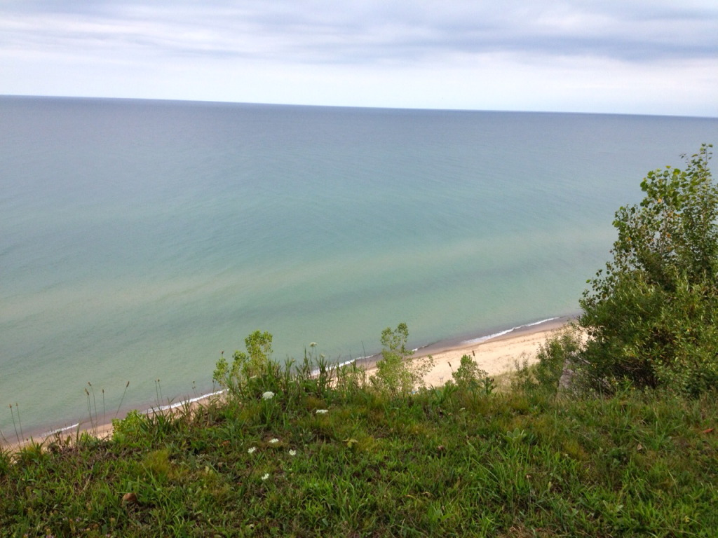 Lake Michigan, a view from the bluff.